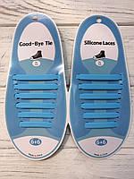 Силиконовые шнурки Голубые (6+6) 12 шт./комплект