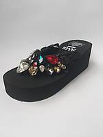 5f9cee947 Женские шлепки на средней удобной платформе, цена 800 грн., купить в ...