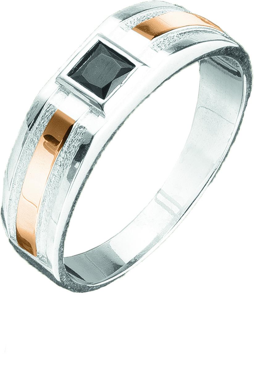 Мужской перстень с цирконием Юрьев 142к - 142к 18.5