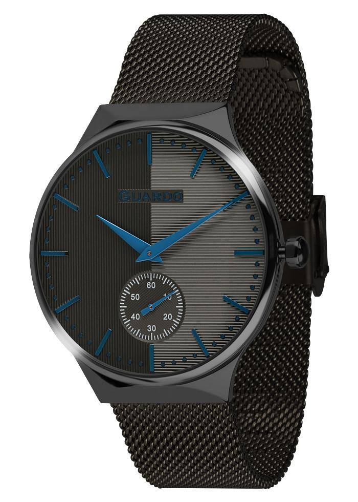 Часы женские Guardo золотые 012473-(2)-6 черные