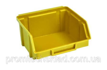 Ящик 703 для хранения метизов желтый 90х100х50 мм