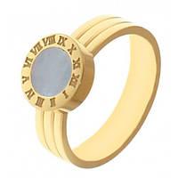 Кольцо из медицинской стали женское позолоченное 4 мм 114197, фото 1