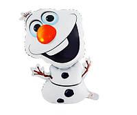 Воздушный шар снеговик Олаф из мультфильма Холодное сердце