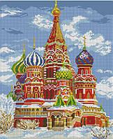Набор для вышивания крестиком Храм Василия Блаженного. Размер: 28*34 см
