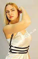 Женская портупея тройная узкая с кольцами арт.930759, фото 2