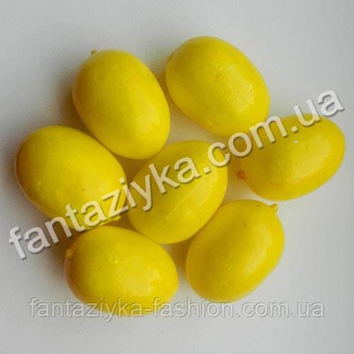 Лимон искусственный 37мм желтый, для декора и топиариев