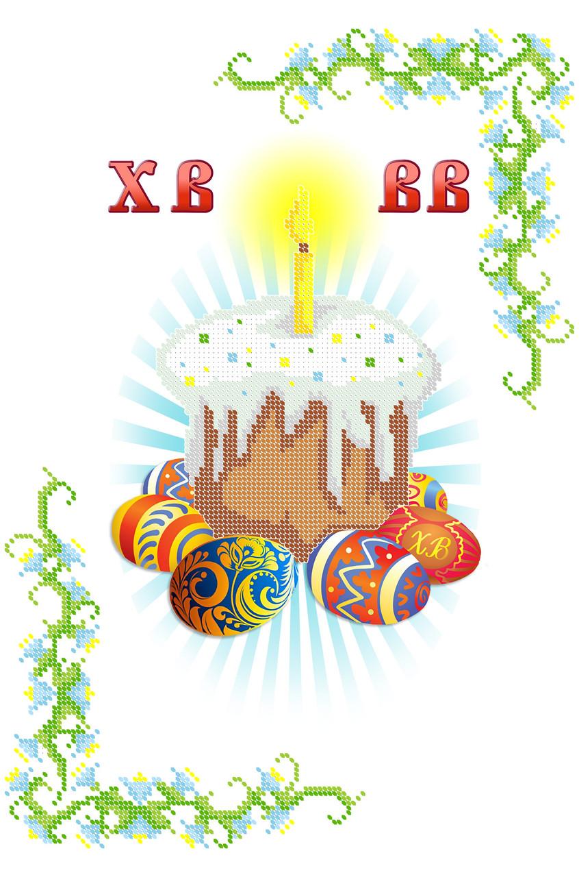 Вышивка бисером Серветка пасхальна СВР 3109 формат А3