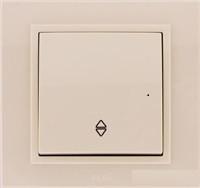 Выключатель 1-й маршевый EL-BI Zena кремовый