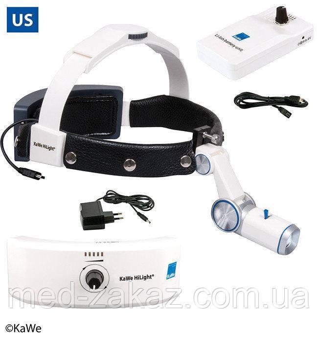 Налобный осветитель HiLight® LED H-800 с аккумулятором для головного обруча и для крепления на ремень (США)
