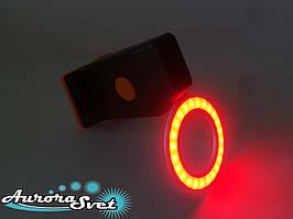 """Задній ліхтар для велосипеда червоний у вигляді """"КОЛО""""."""