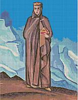 Набор для вышивания крестиком Держательница мира. Размер: 28,6*37 см
