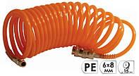 Шланг InterTool PT-1704  10 м спиральный с быстроразъемным соединением