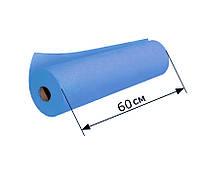 Простыни одноразовые в рулоне 0.6х100 м, 23 г/м2 - Темно-голубые