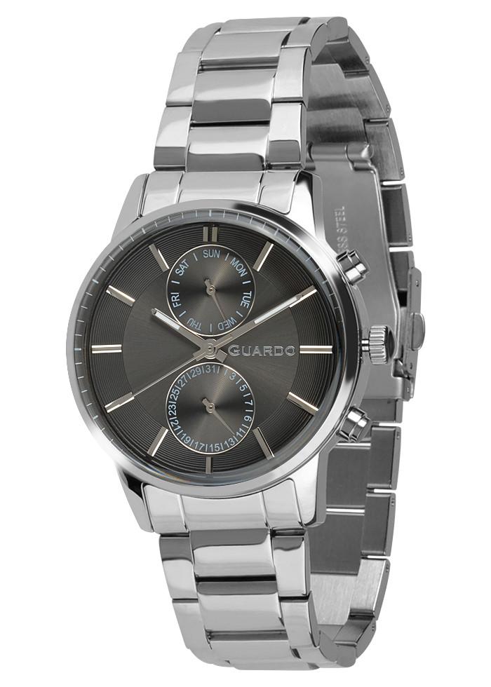 Годинники чоловічі Guardo B01068-2 срібні