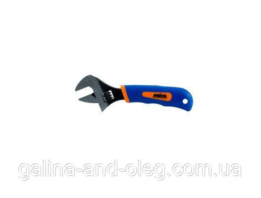 Ключ разводной Miol - 200 мм (0-24 мм) синяя ручка