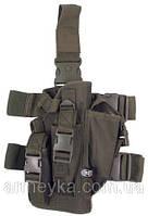 Пистолетная кабура  набедренная с доп. подсумками, олива