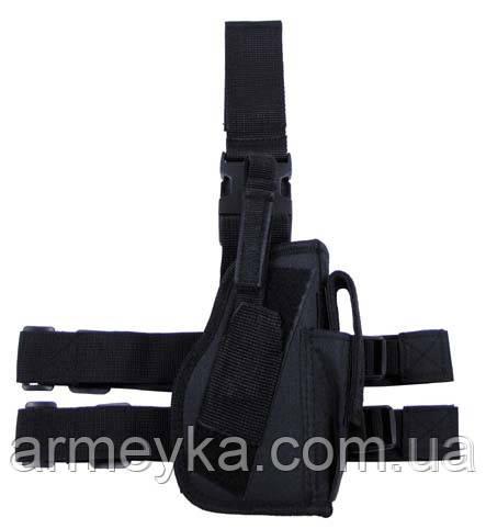 Пистолетная кабура  набедренная правосторонняя, черная