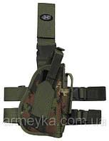 Пистолетная кабура  набедренная правосторонняя,  vegetato, Германия MFH