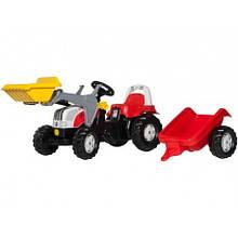 Трактор педальный с прицепом и ковшом Rolly Toys 23936
