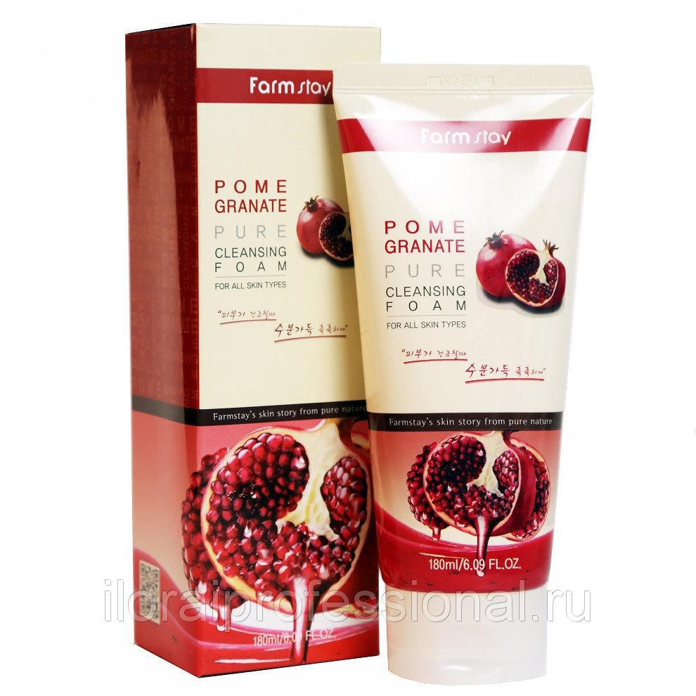 Пенка с экстрактом Граната для умывания Farm stay Pomegranate Pure Cleansing Foam, 180ml