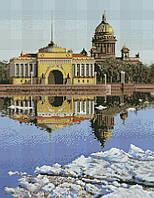Набор для вышивания крестиком Исаакиевский Собор в Санкт- Петербурге. Размер: 27*35 см