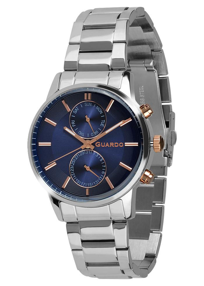 Часы мужские Guardo B01068-4 серебряные