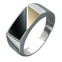 Печатка с ониксом из серебра и золота Юрьев 213к - 213к 18.5