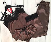 Пижамный комплект тройка-майка+штаны+шорты
