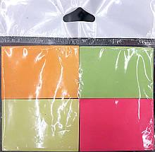 Бумага для заметок ЦВЕТНАЯ с липким слоем, 4*100 листов , 5*3,8 см