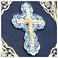 Библия в кожаном переплете с декоративным крестом, фото 4