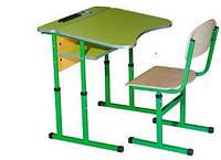 Комплект Крісло + Парта Шкільна 1 місна антисколіозна, регульована, з полицею