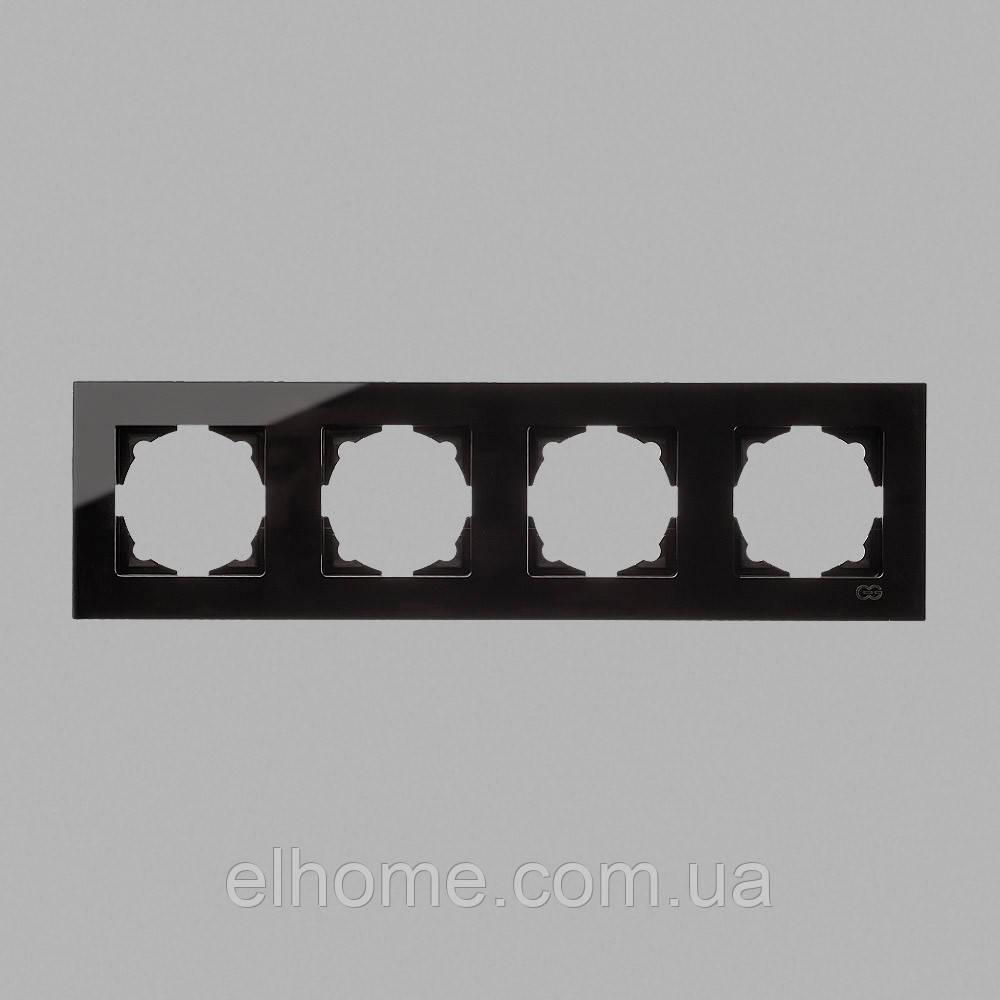 Рамка чотиримісна, Gunsan Eqona крем metallic