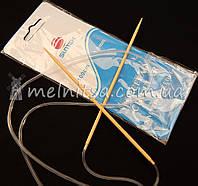 Спицы вязальные бамбуковые, 3 мм, дл.100см