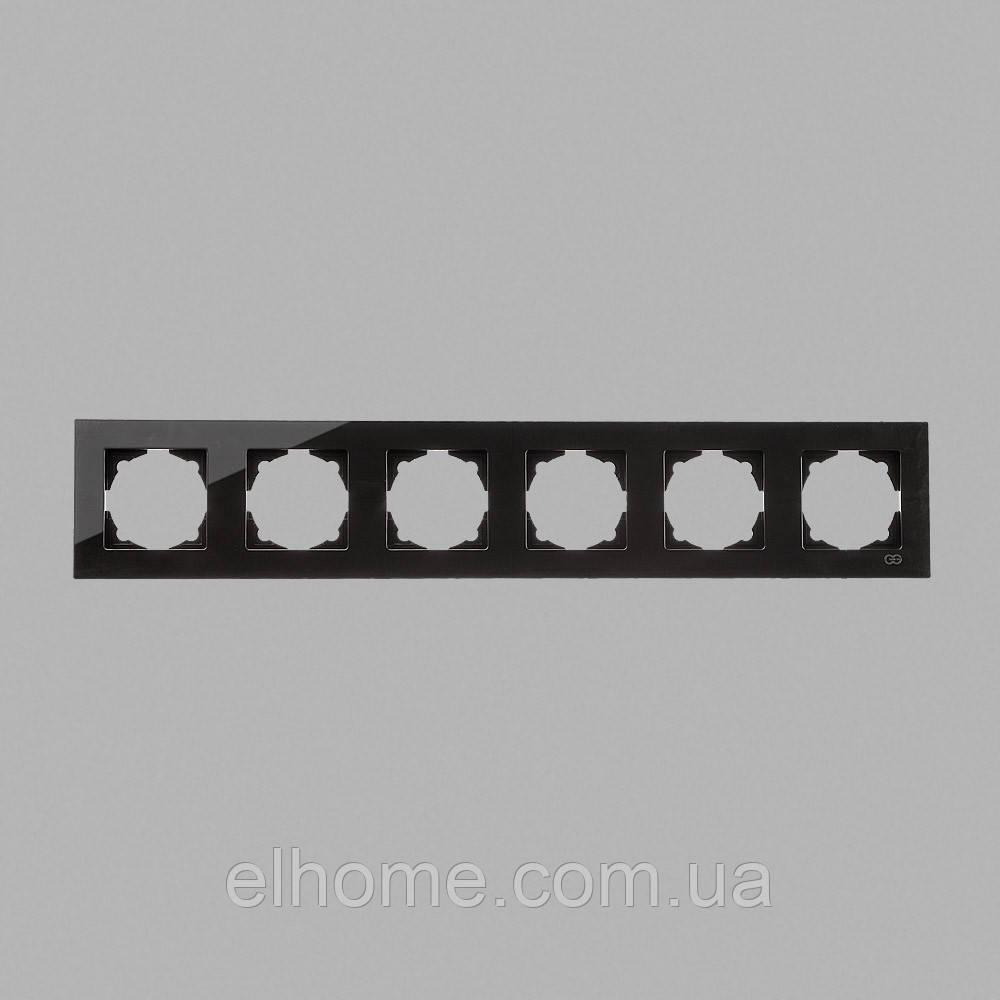 Рамка шестимісна, Gunsan Eqona крем metallic