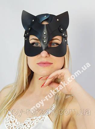 Женская портупея на лицо, маска кошки черная арт.930802, фото 2