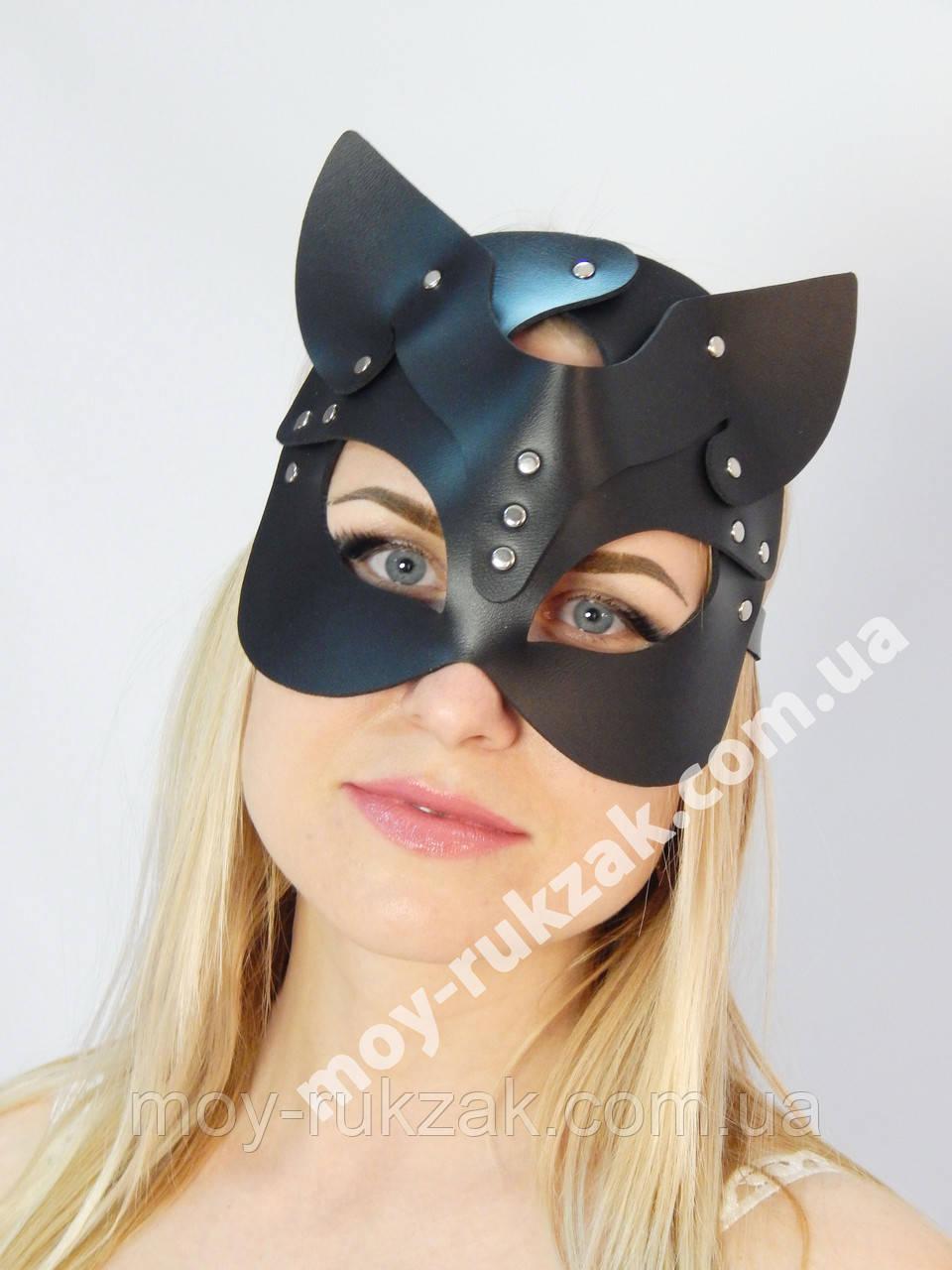 Женская портупея на лицо, маска кошки черная арт.930802