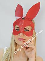 Женская портупея на лицо, маска кролика красная арт.930809