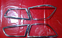 Хром накладки на стопы Mitsubishi Lancer 10, Митсубиси Лансер 10