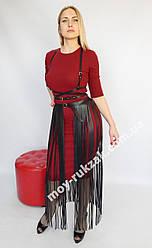 Комплект портупея бахрома 80см на талию и на грудь арт.930815