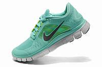 Женские кроссовки Nike Free 3+ бирюзовые, фото 1