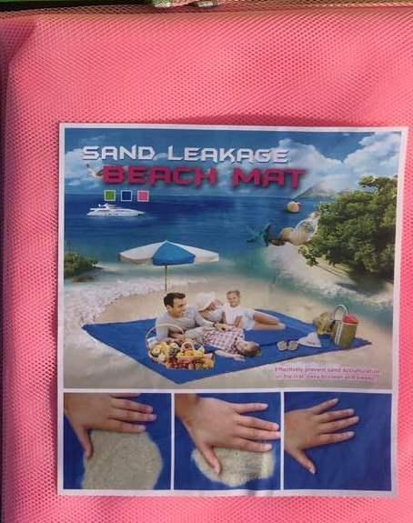 Пляжная подстилка анти песок
