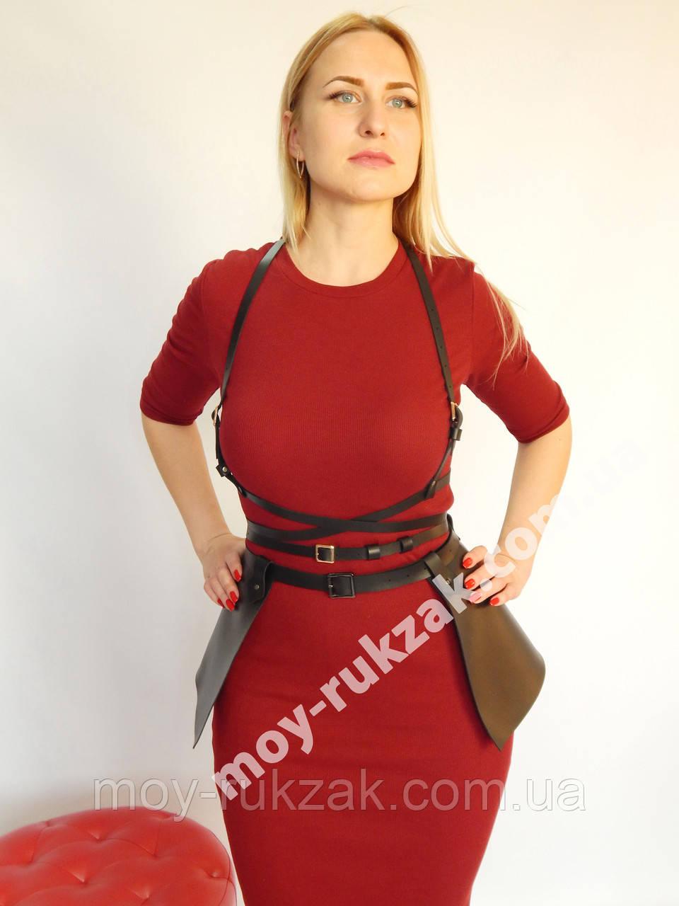 Комплект портупей: двойная обмотка на грудь и юбка баска арт.930818