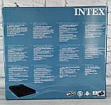 Надувной велюровый матрас. Кровать двухместная 203*152*25 см 64143 Intex, фото 2