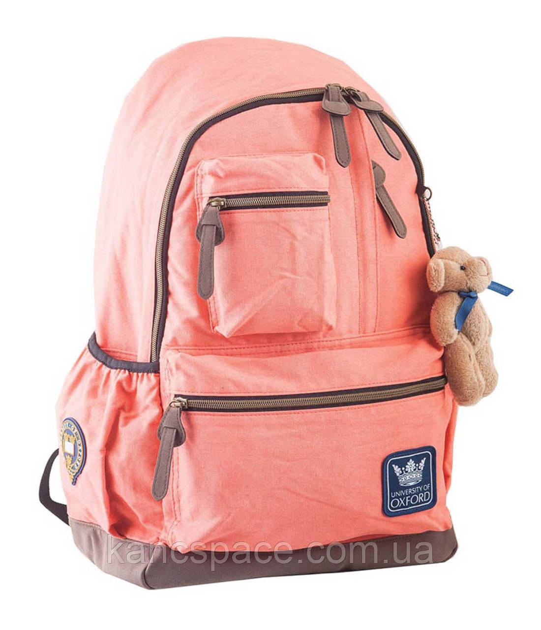 Рюкзак підлітковий OX 236, персиковий, 30*47*16