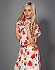Летнее шифоновое платье белое с цветами