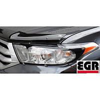 Защита фар Nissan Qashqai 2007- с оккантовкой | EGR 227180