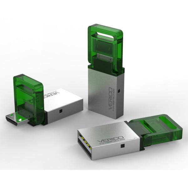 VERICO USB 2.0 Hybrid Mini 8 GB Green