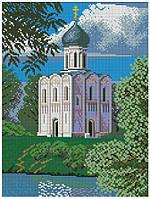 Набор для вышивания крестиком Храм Покрова на Нерли. Размер: 19*25,5 см