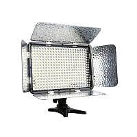 Накамерный и студийный свет со шторками (биколорный) Alitek LED-330A + АБ + ЗУ + ДУ