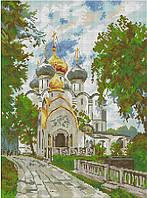 Набор для вышивания крестиком Новодевичий монастырь. Размер: 26*35 см